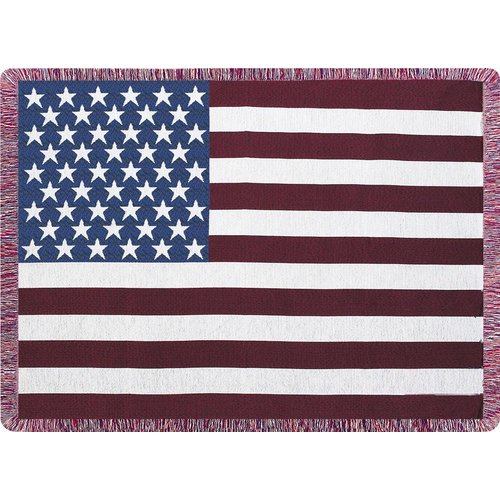 Manual Woodworkers & Weavers Stars & Stripes Tapestry Cotton Throw