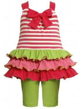 Toddler Girls 2T-4T Stripe to Tier Knit Dress/Legging Set [BNJ02301]