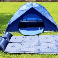 Single/Double Self-Inflating Camping Pad with Pillow,72.05x22.44x0.98""