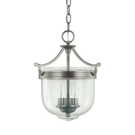 Covington Antique - Capital Lighting Covington  Antique Nickel 3 Light Foyer Fixture