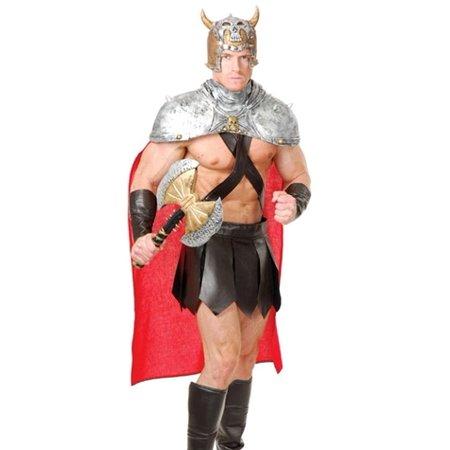 Charades Roman Greek Spartan Gladiator Warrior Halloween Costume - Mens Greek Spartan Warrior Costume