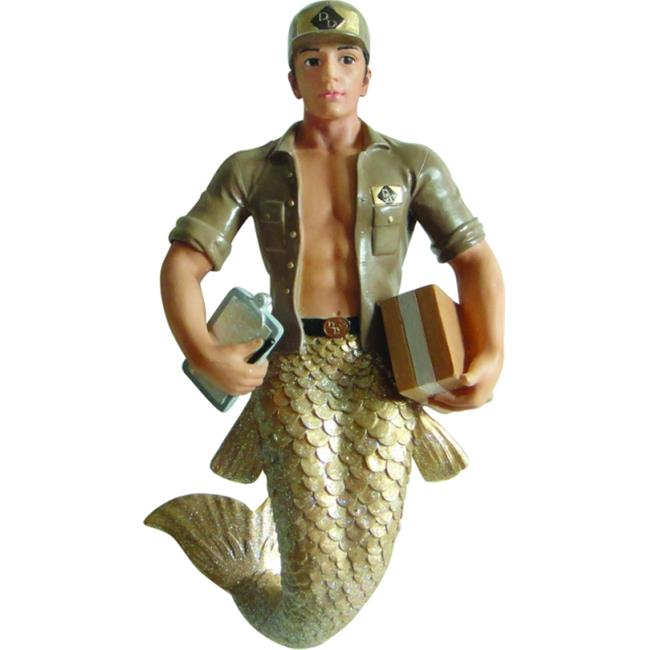 December Diamonds Special Delivery Merman Ornament - Brown, Tan