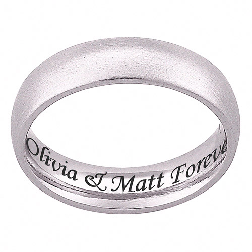 Personalized Stainless Steel Engraved Wedding Band Walmartcom