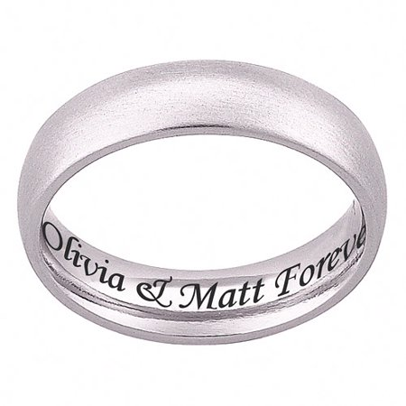 personalized stainless steel engraved wedding band