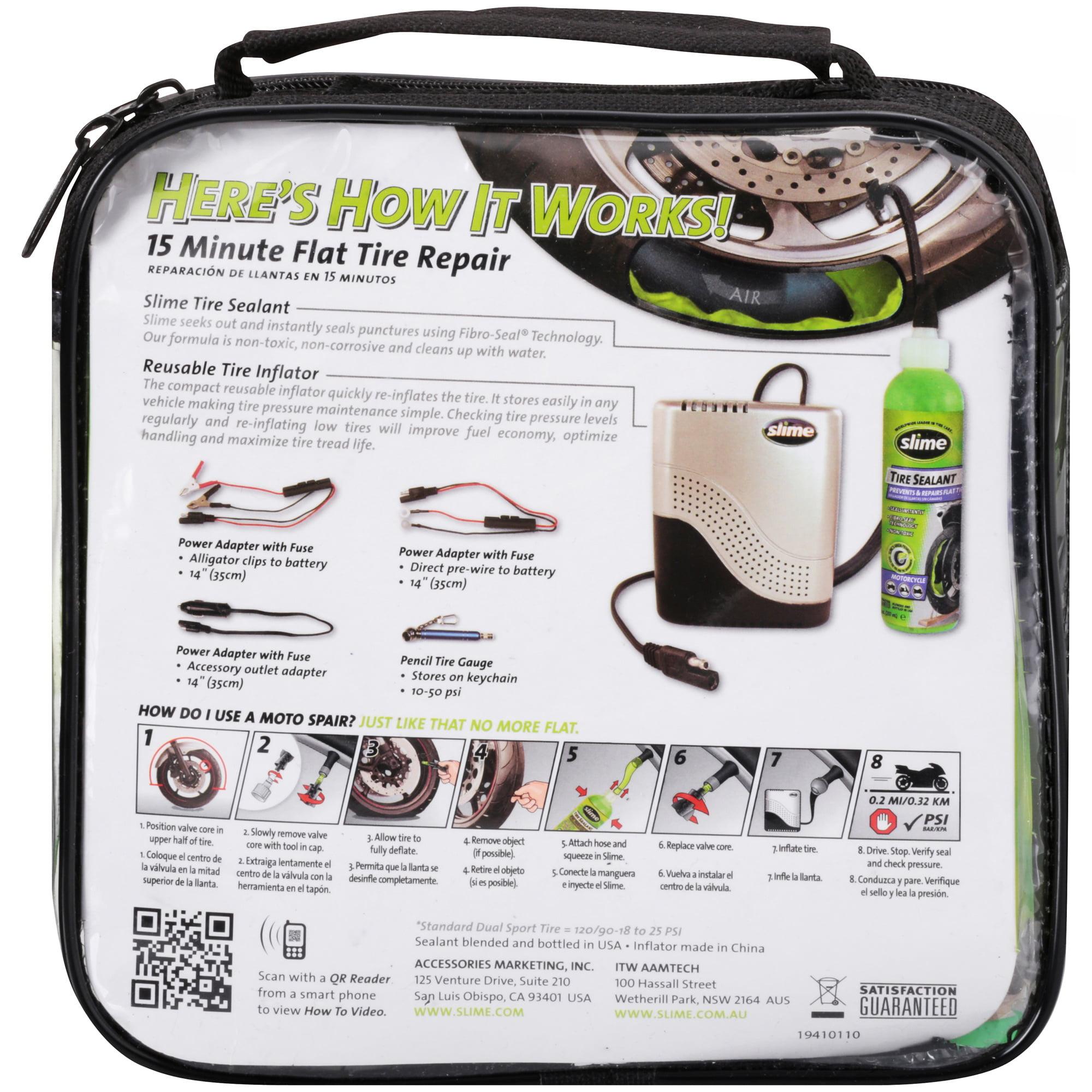 Slime® Moto Spair® Small Tire Emergency Flat Tire Repair Kit 6 pc Bag -  50001 - Walmart.com