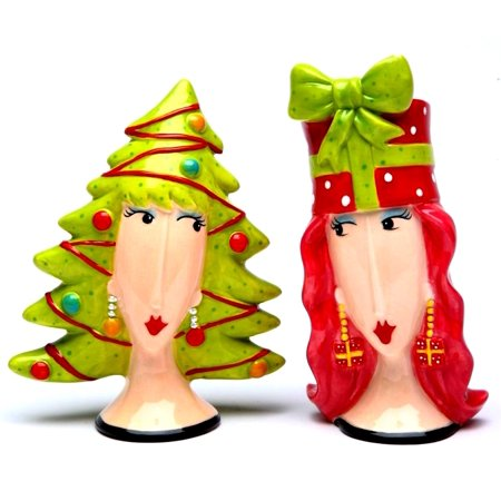 Dollymama's Christmas Tree And Gift  Salt & Pepper Shaker By Joey