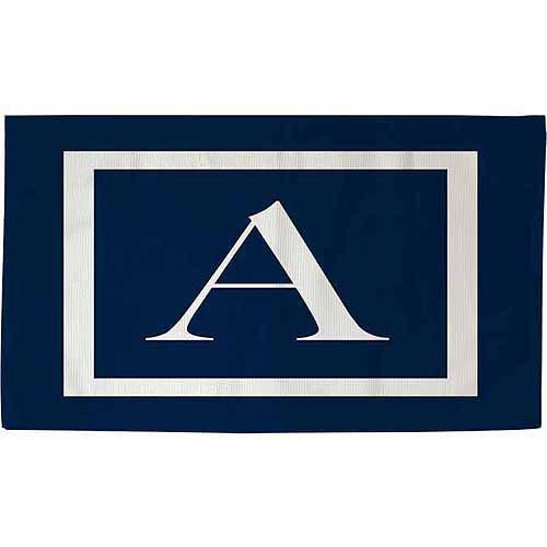 IDG Classic Block Monogram Rug, Blue