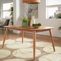 "Chelsea Lane Mid Century Modern 63"" Wood Dining Table, Multiple Colors"