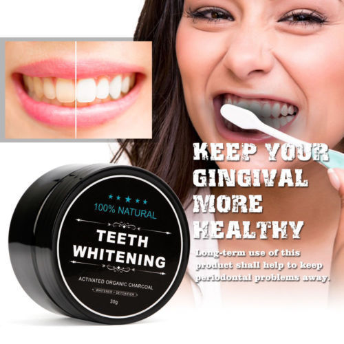 100 Organic Coconut Activated Charcoal Natural Teeth Whitening