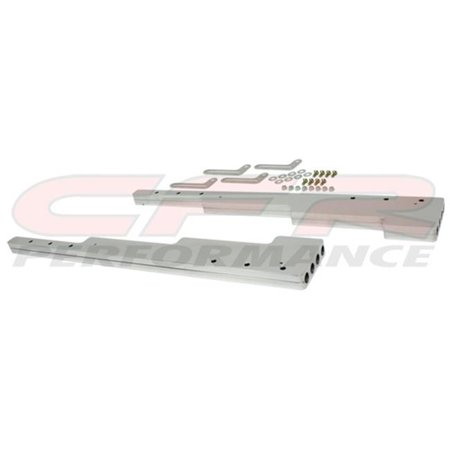 CFR HZ-6061-POL 9.5 mm Smooth Polished Billet Aluminum Wire Loom Set - Chevy, Ford & Mopar