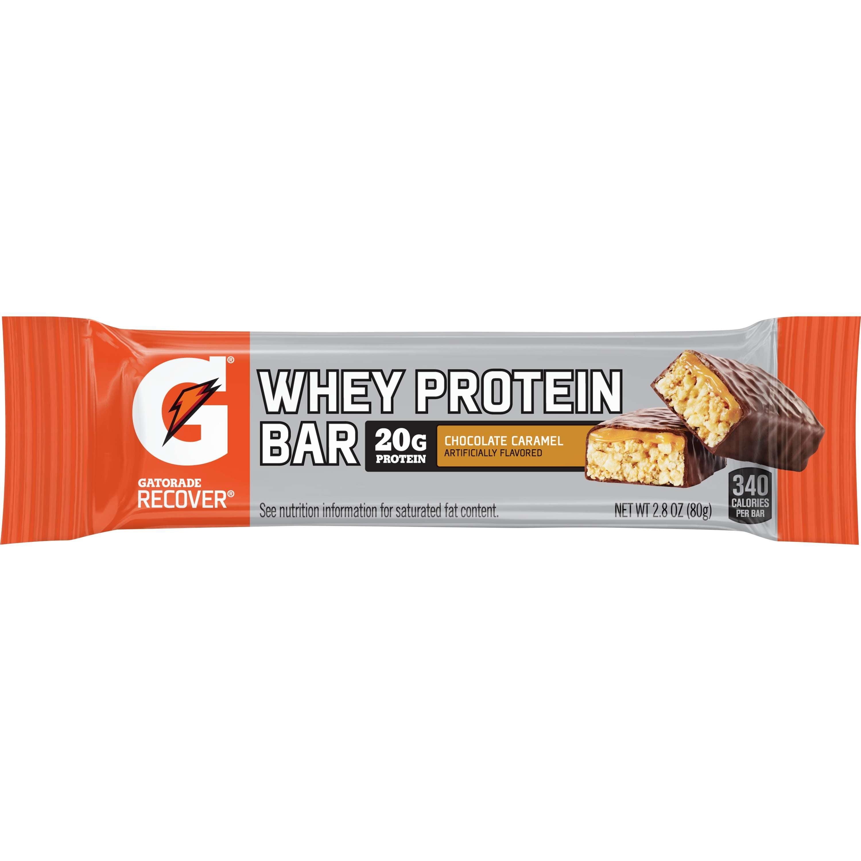 Gatorade Recover Chocolate Caramel Whey Protein Bar 12-2.8 oz. Bars