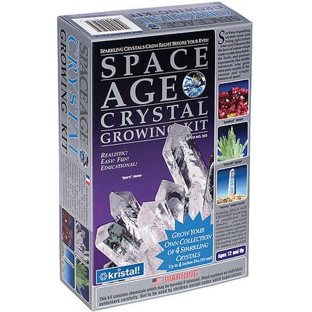 Space Age Crystals  4 Crystals  Quartz    Amber   Emerald  Fluoride