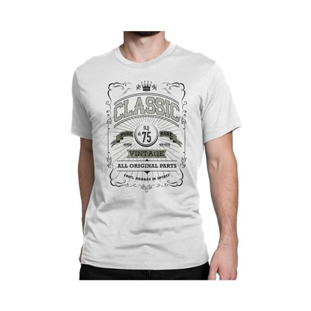 NYC FACTORY Classic Mens 75Th Birthday T Shirt Vintage Unisex 75