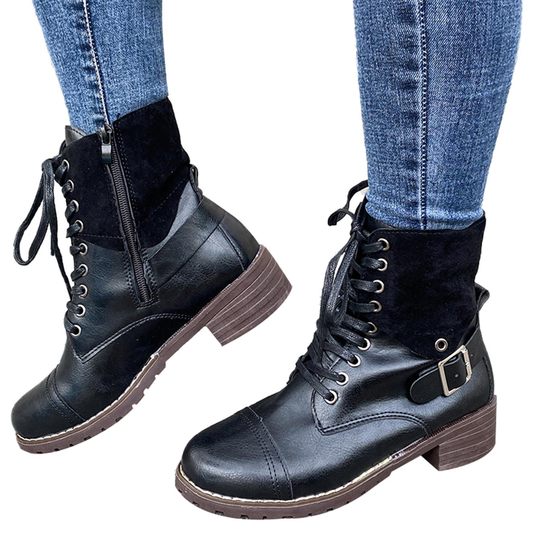 American Rag Womens Tatum Leather Studded Combat Boots