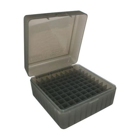 Mtm RM10041 Ammo Box 100 Round Flip-top 22-250 243 308 Win 220 Swift Clear (Best 338 Win Mag Ammo)