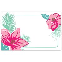 Tropical Flowers Enclosure Cards / Gift Tags - 3 1/2in. x 2 1/4in. - 50 Pack