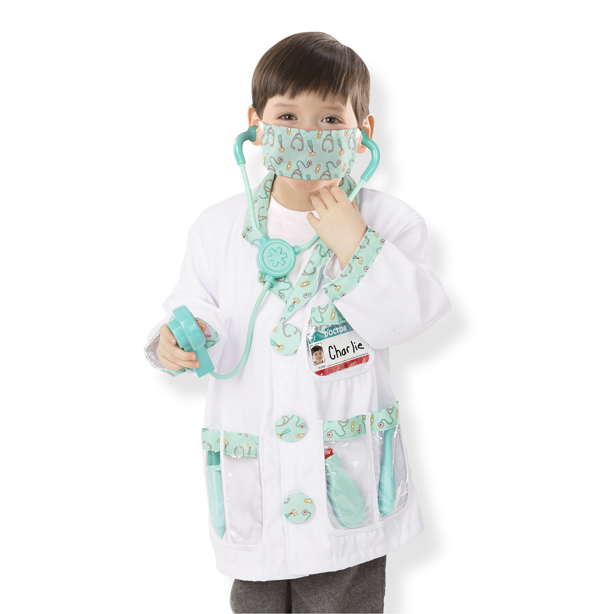 Melissa Doug Doctor Role Play Costume Set Ages 3 6 Years