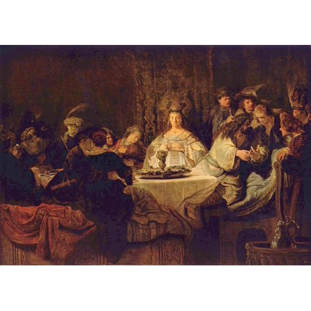 Harmensz Van - Framed Art for Your Wall Rembrandt Harmensz. van Rijn - Samson at the wedding table the mystery abandoning 10 x 13 Frame