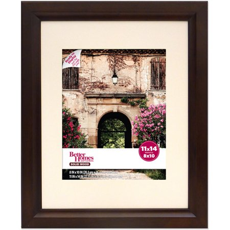 Better Homes And Gardens Studio Wide 11x14 Wood Picture Frame Mahogany
