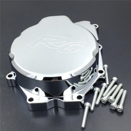 HTT- Motorcycle Engine Stator Cover For Yamaha YZF-R6 2006-2014 Chrome Left Side