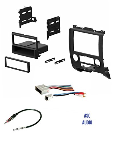 ASC Audio Car Stereo Radio Install Dash Kit, Wire Harness, and Antenna on ford car stereo wiring harness, ford escape radio fuse, ford escape radio removal tool,