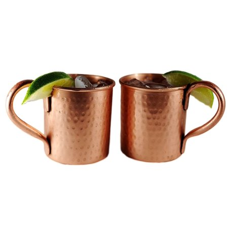 Alchemade Pure Copper 14 oz. Hammered Jugs (Set of 2)
