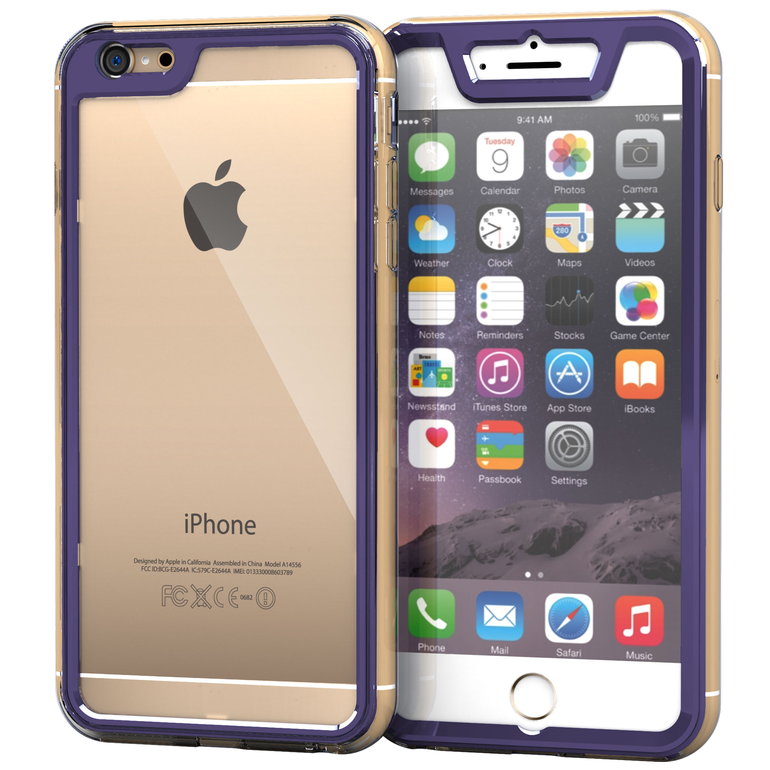 iPhone 6s Plus Case, Gelledge Premium Hybrid PC / TPU Protective Full Body Case Cover for Apple iPhone 6 Plus / 6s Plus (2015)