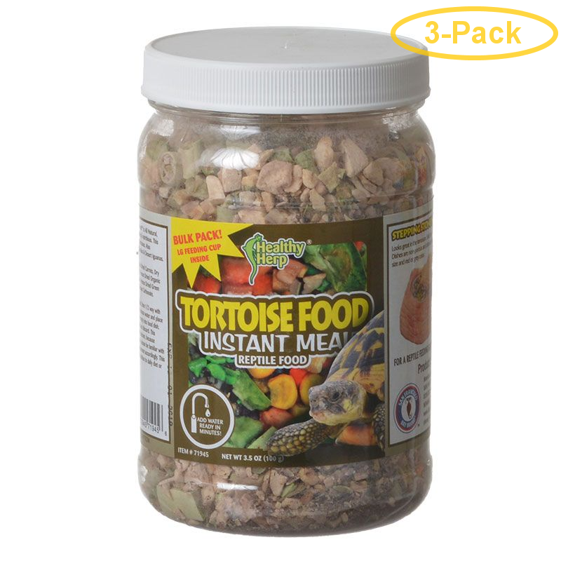 Healthy Herp Tortoise Instant Meal Reptile Food 3.5 oz - Pack of 3