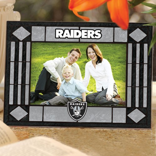 Oakland Raiders Art-Glass Horizontal Picture Frame - No Size