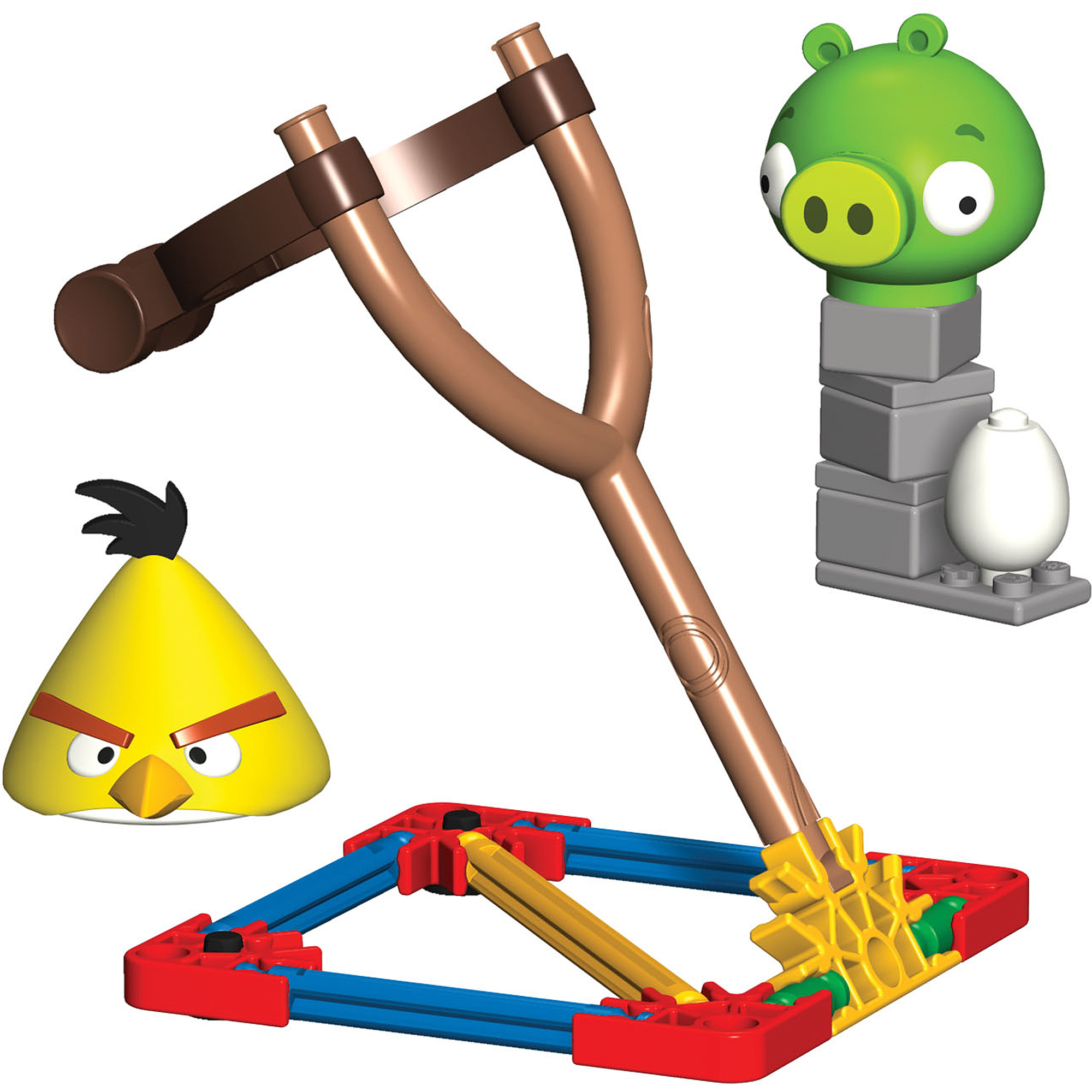 K'NEX Angry Birds Intro Building Set: Yellow Bird vs. Medium Minion Pig