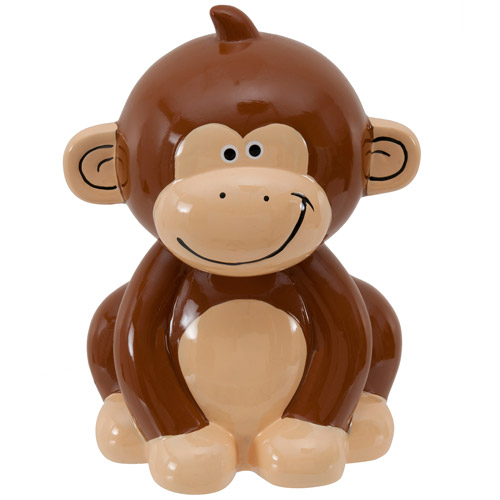 Monkey Figural Ceramic Bank