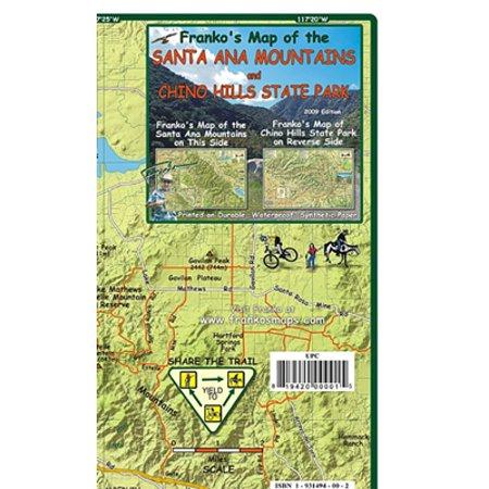 MAP FML CA SANTA ANA MTNS & CHINO HILLS