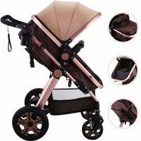 VEVOR Luxury Stroller Foldable Pushchair Pram Carriage Infant Stroller