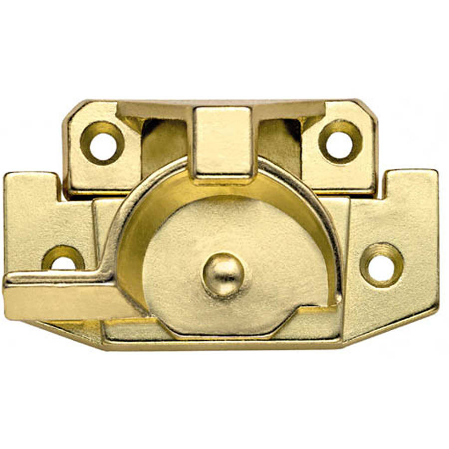 Stanley Hardware 756047 Bright Brass Jimmy-Proof Window Sash Lock