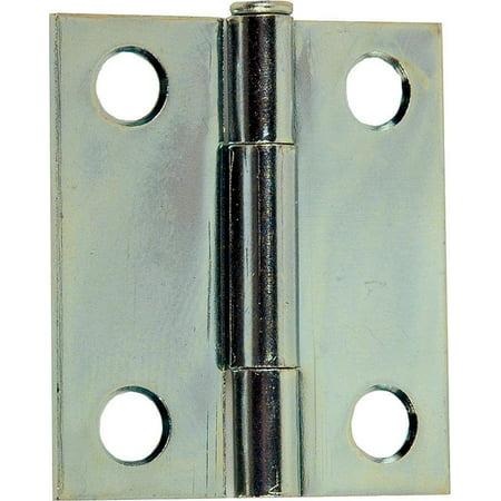 Prosource 2926319 1.5 x 1.3 in. Full Mortise Narrow Square Corner Utility Hinge Door Leaf, Steel