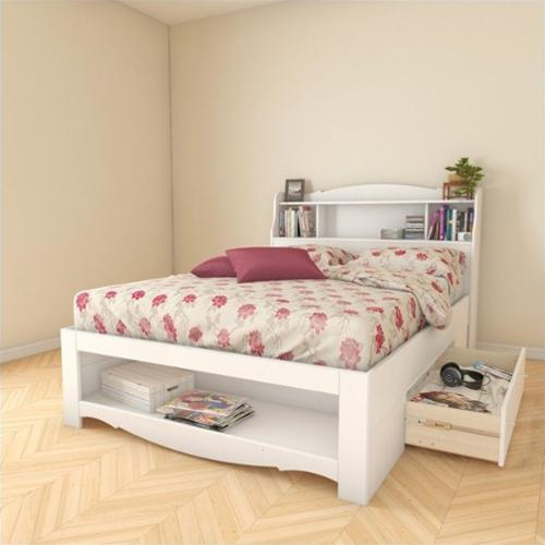 Nexera Dixie 2 Piece Full Reversible Bedroom Set in White