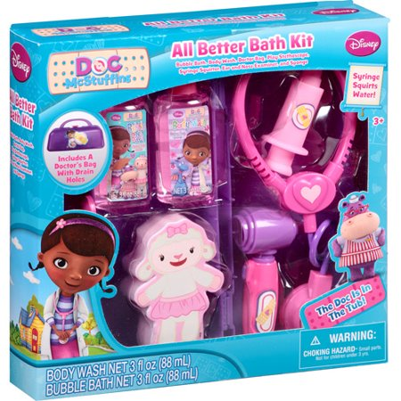 Disney Doc Mcstuffins All Better Bath Kit 7 Pc