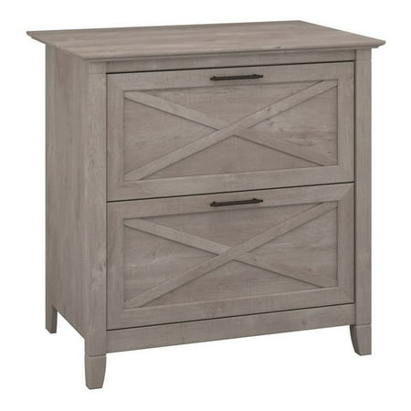Scranton & Co Lateral File Cabinet in Washed Gray Lateral File Cabinet Rails