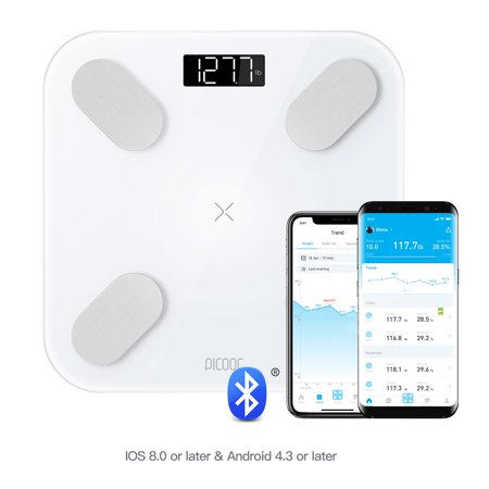 Picooc Mini Pro Body Weight Scale Smart 13 Body Composition Measurements: Fat, BMI, Muscle, Bone, Hydration and