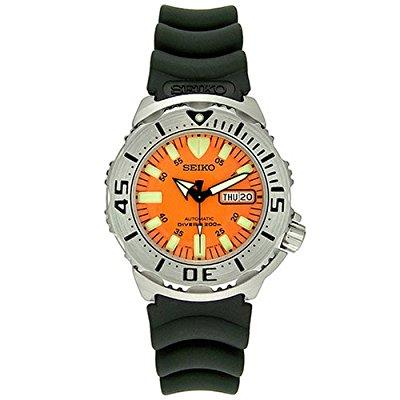 Seiko skx781k3 men's orange monster automatic dive watch ...