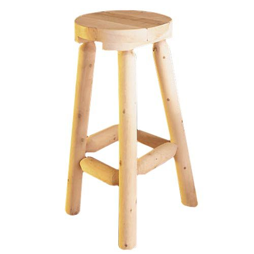 Rustic Natural Cedar Furniture Backless Counter Stool - Set of 2