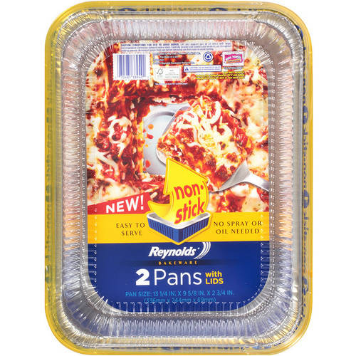 Reynolds Non-Stick Lasagna Pans with Lids, 2-Pack