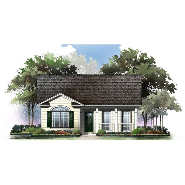 TheHouseDesigners-5860 Cottage House Plan with Crawl Space Foundation (5 Printed Sets)