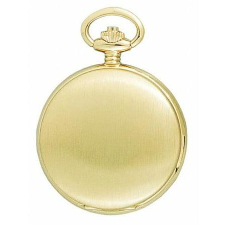 Charles-Hubert- Paris Brass Gold-Plated Satin-Finish Quartz Hunter Case Pocket Watch # - image 1 de 1