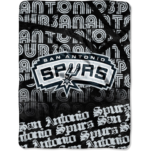"NBA Redux Series 46"" x 60"" Micro Throw, San Antonio Spurs"