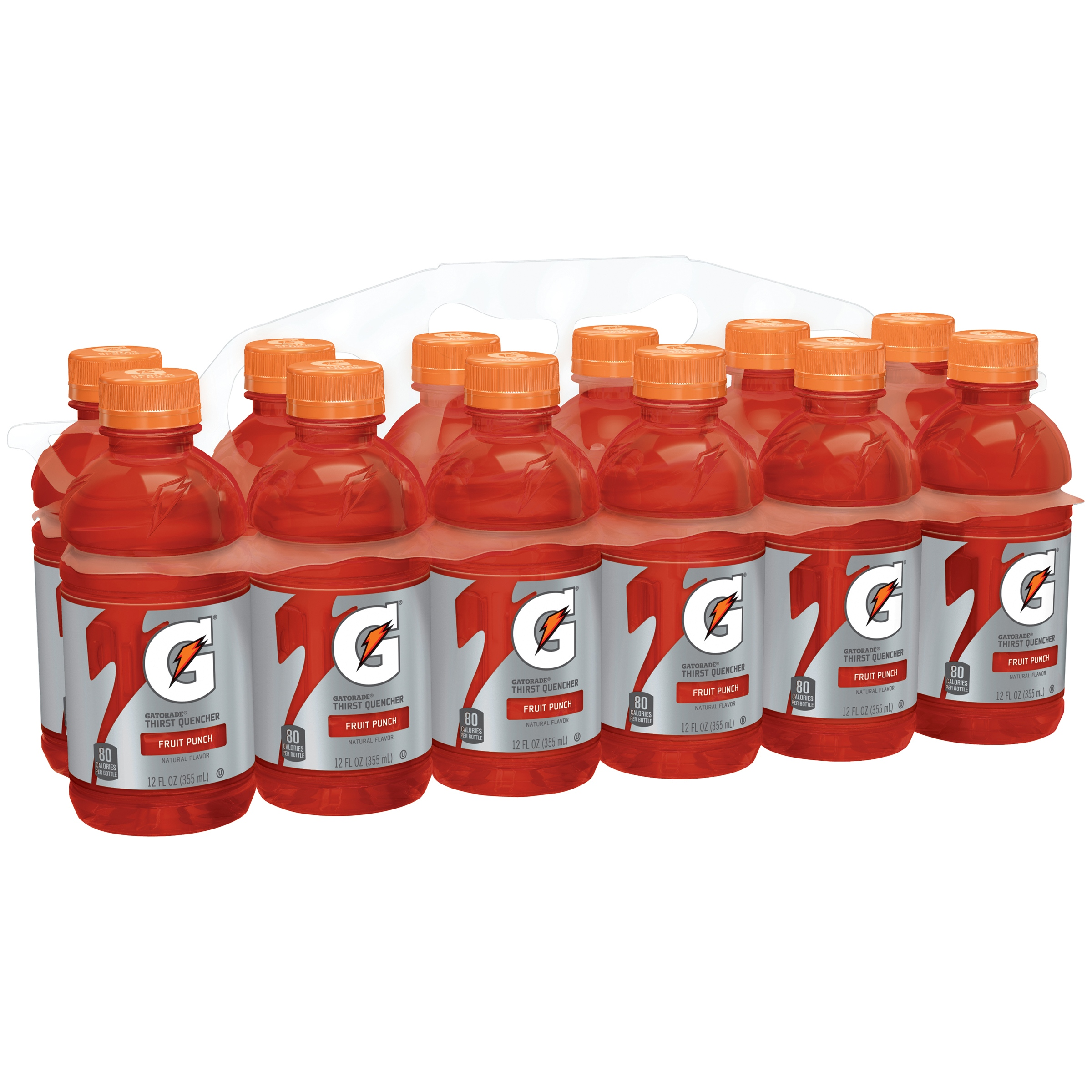 Gatorade Thirst Quencher Fierce Sports Drink, Fruit Punch, 12 Fl Oz, 12 Ct