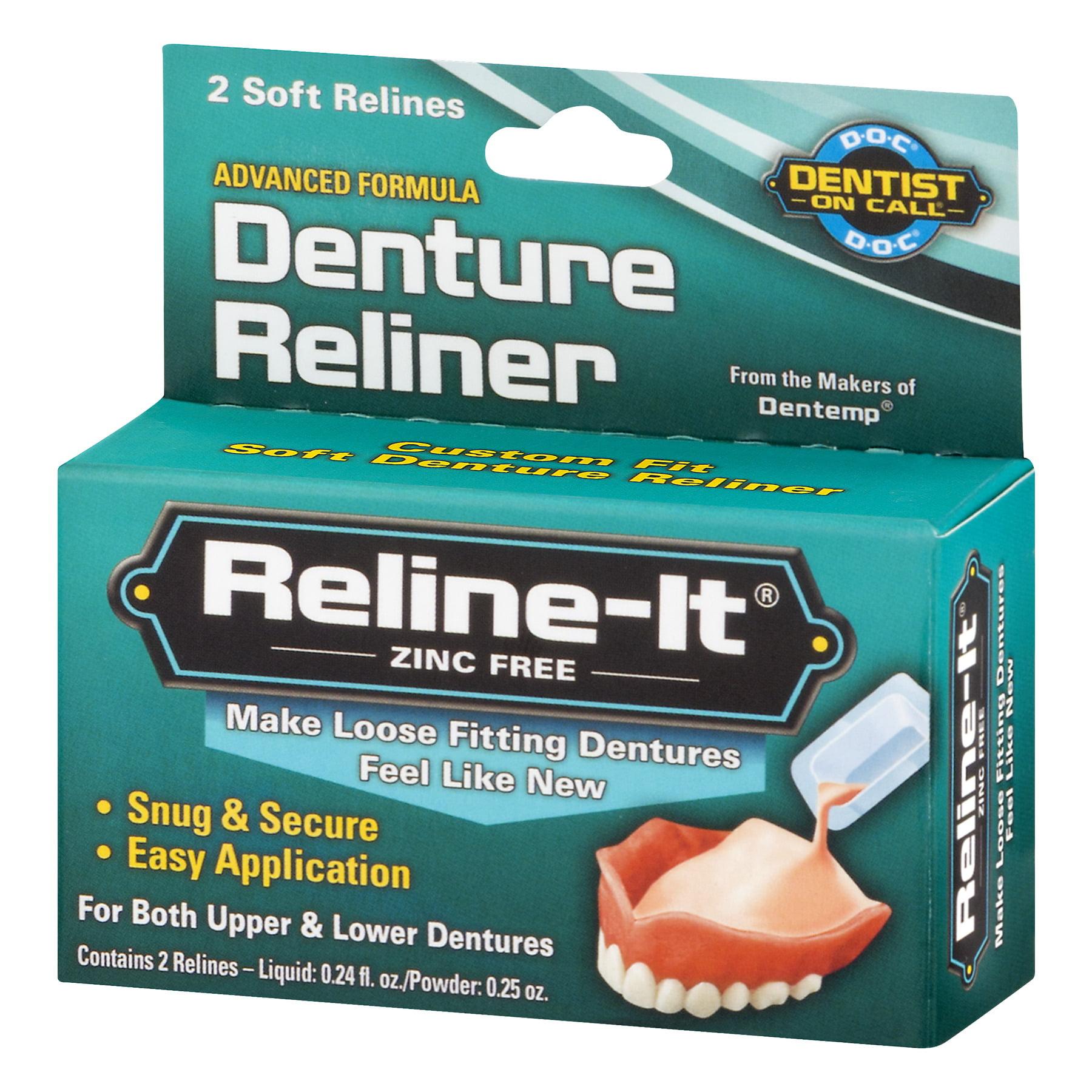 Reline it zinc free denture reliner 2 ct walmart solutioingenieria Images