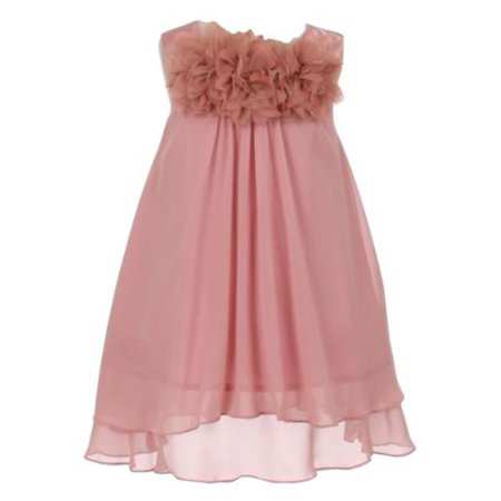 Kids Dream Big Girls Dusty Rose Mesh Flowers Chiffon Special Occasion Dress 12](Girls Dresses 12)