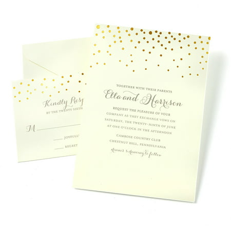 Gartner Studios Dot Invitations, 50 Piece