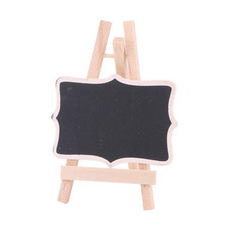 Household Wood Standing Message Board Table Number Sign Chalkboard Blackboard